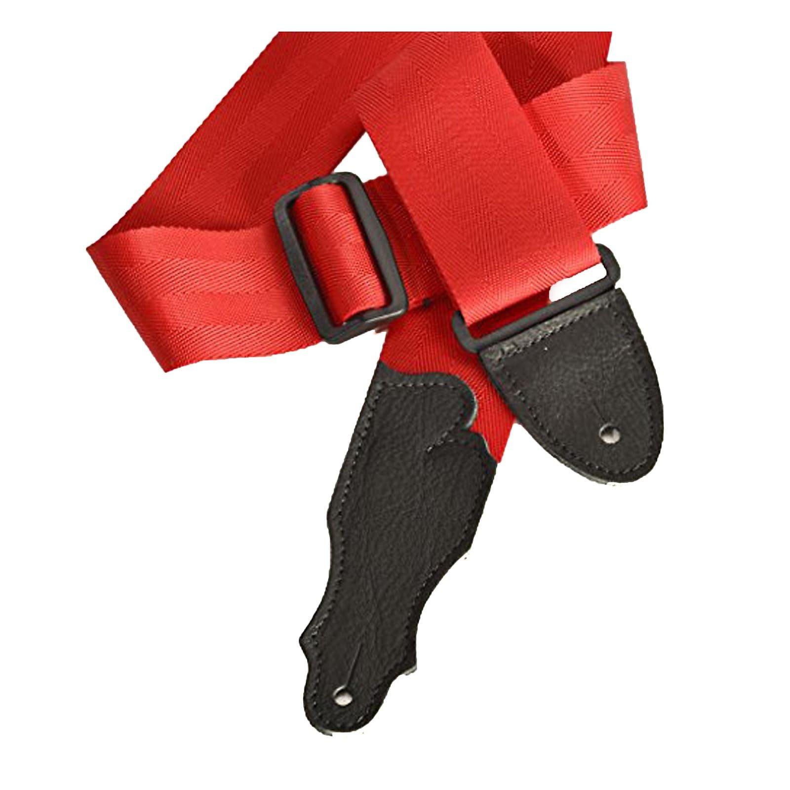 Franklin Red Nylon Seatbelt/Black Stitching Strap