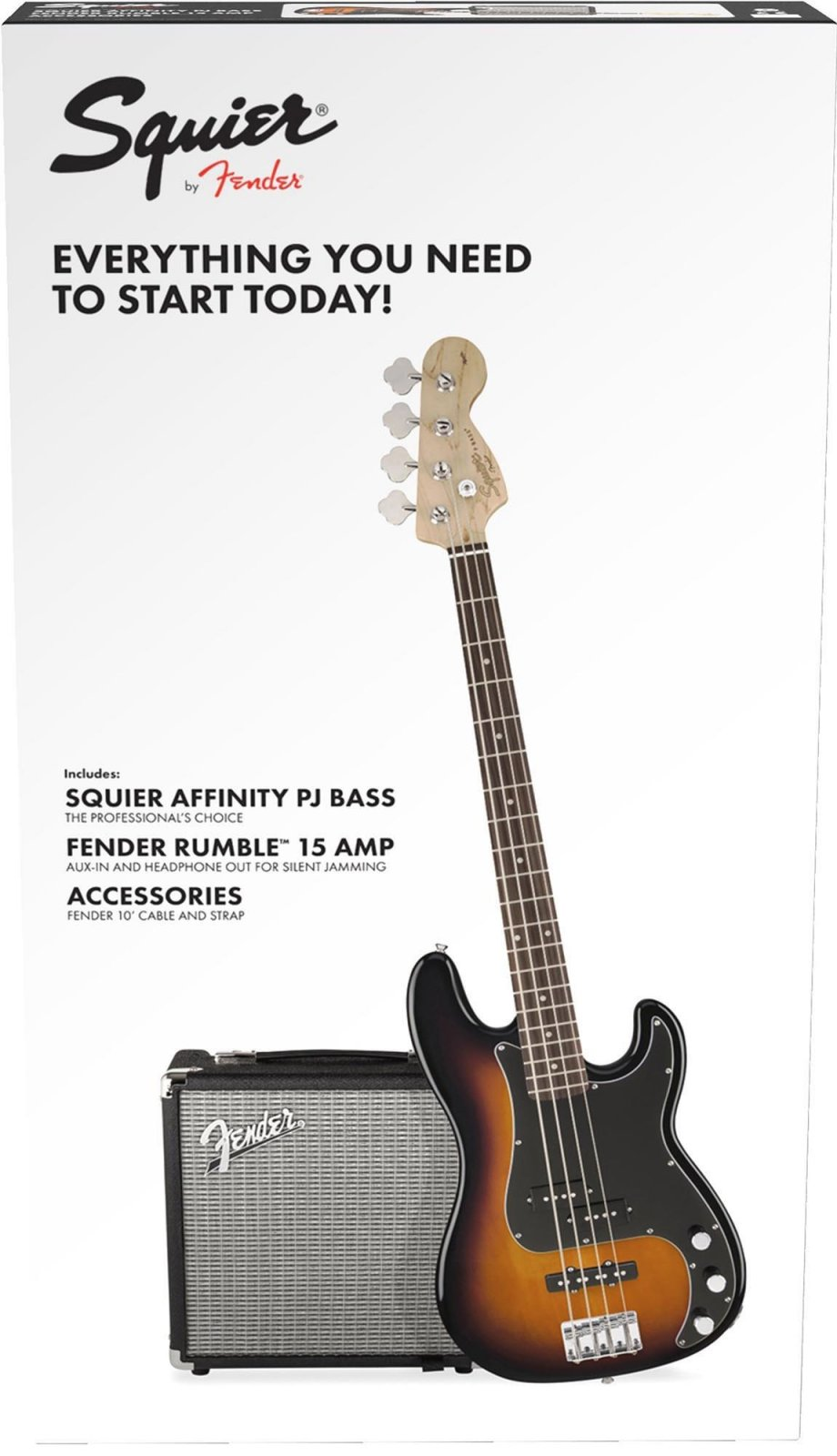 Squier Precision Bass Rumble 15 Starter Pack