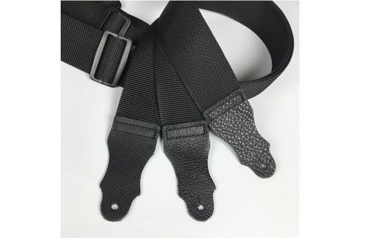 Franklin 2 Black Polyweb w/ Glove Leather End Tab Strap