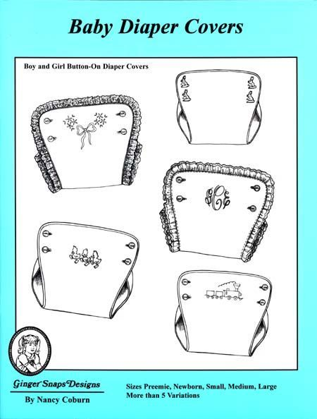 Ginger Snaps Designs Baby Diaper Covers