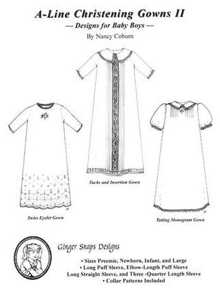 Ginger Snaps Designs A-Line Christening Gowns II