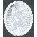Motif  Bunny  3 1/8 x 2 5/8 White
