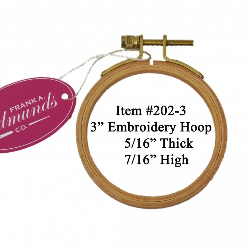 3 Polished Beech Embroidery Hoop