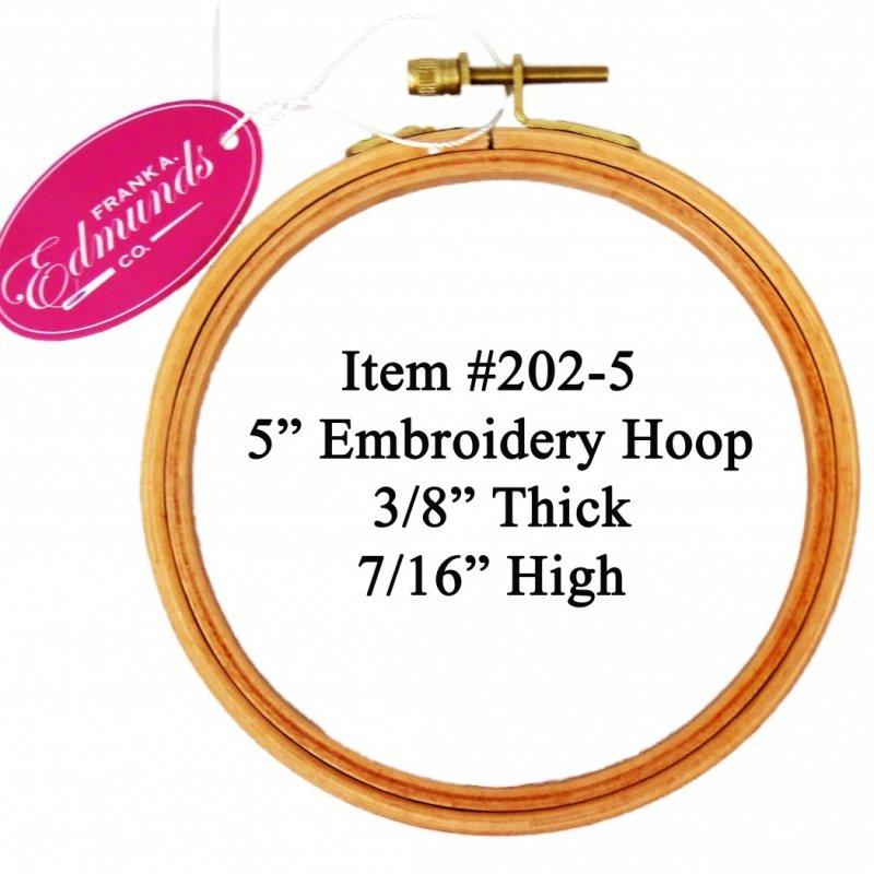 5 Polished Beech Embroidery Hoop