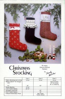 Smocked Christmas Stocking