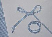 Spaghetti Bias Tubing Light Blue Gingham