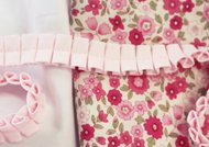 Double Boxed Pleated Fabric - Pink