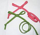 Spaghetti Bias Tubing Leaf Green