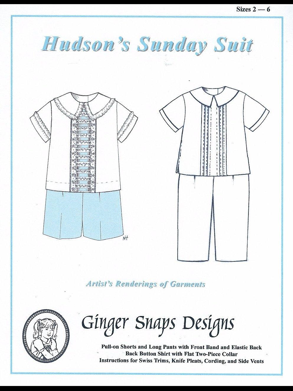 Ginger Snaps Designs Hudson's Sunday Suit