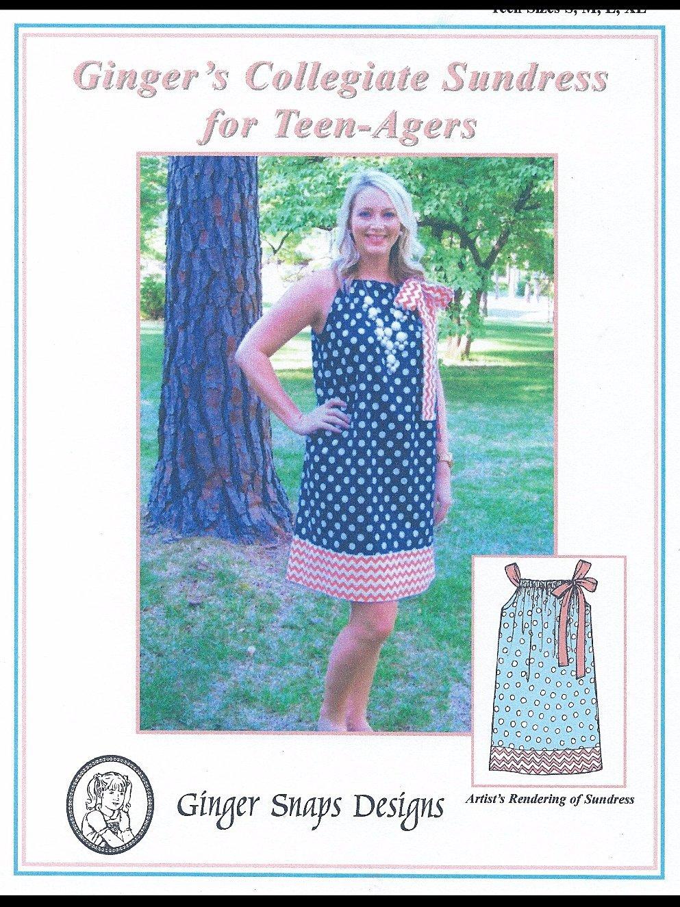 Ginger Snaps Designs Ginger's Collegiate Sundress for Teens