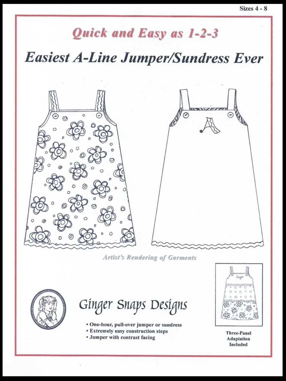 Ginger Snaps Designs Easiest A-Line Jumper/Sundress