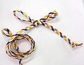 Spaghetti Bias Tubing Tri-Color Purple/Gold/White