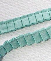 Pleated Fabric Ruffle - Aqua 1/2