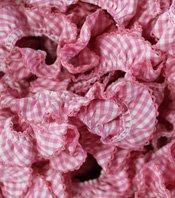 Picot Edge Fabric Ruffle - Candy Pink