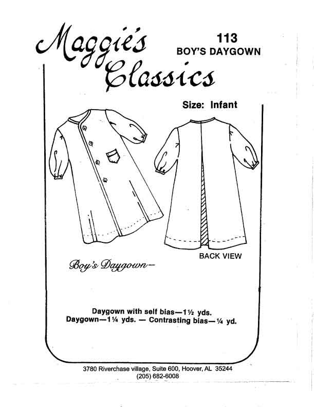 Maggie's Classics Boy's Daygown