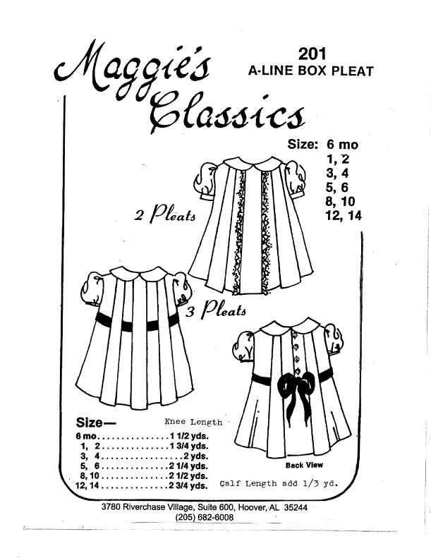 Maggie's Classics A-Line Box Pleat Dress