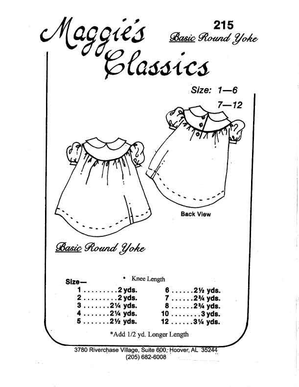 Maggie's Classics Basic Round Yoke Dress