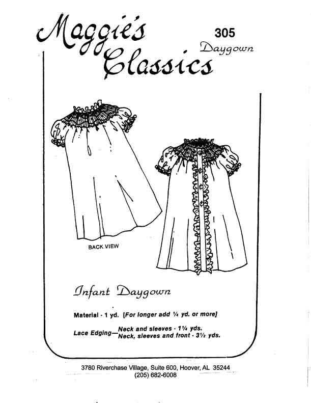 Maggie's Classics Bishop Daygown Button Front