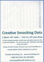 CS Smocking Dots - Blue 3/8
