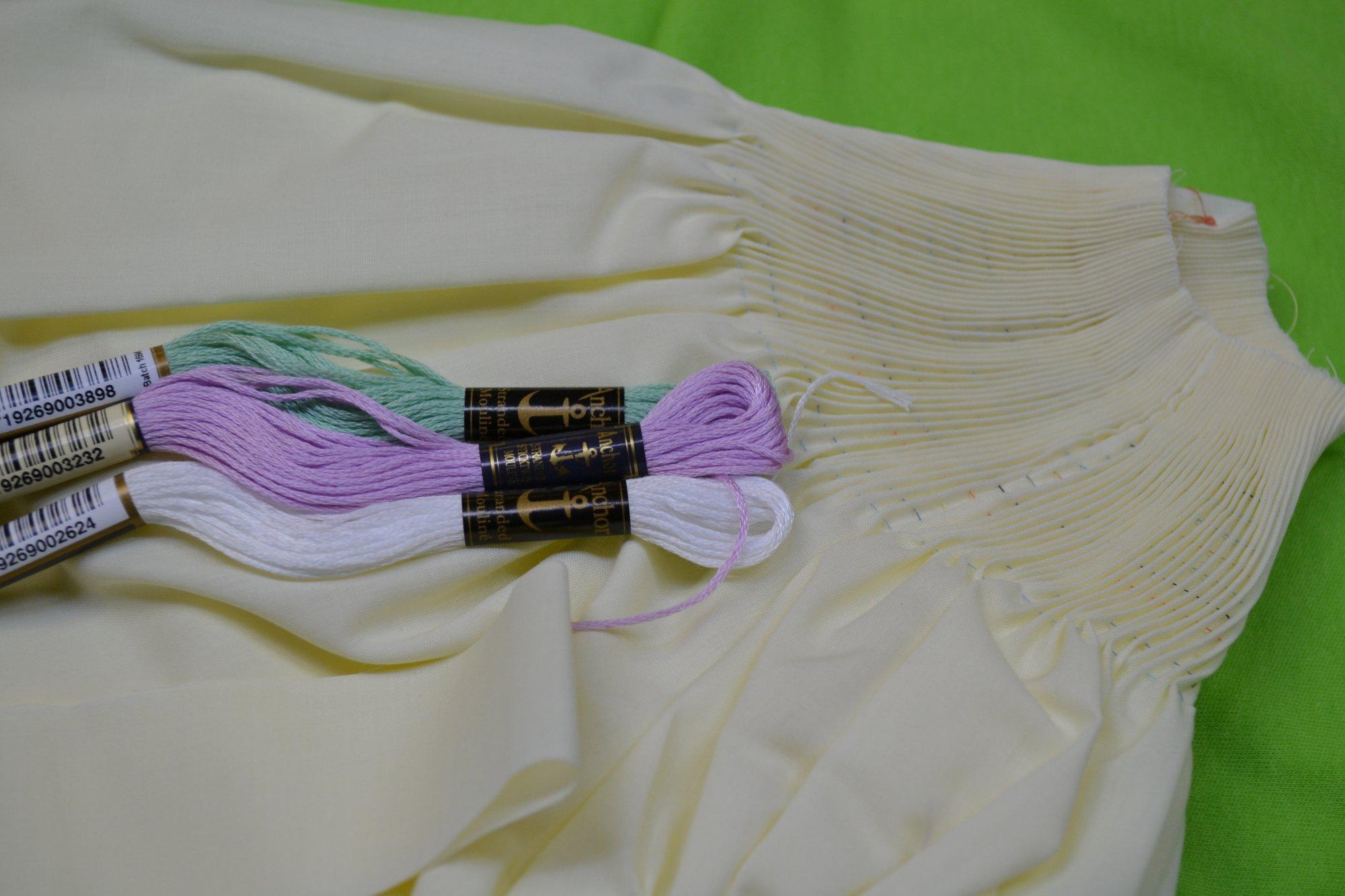 Bishop Kit - Pleated Sleeve Moonbeam 3 months
