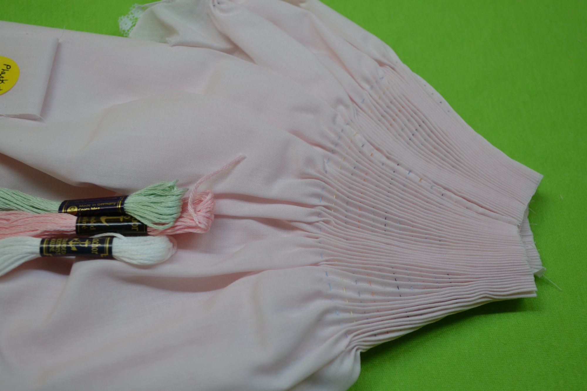 Bishop Kit - Pleated Sleeve Ballet Pink 3 months