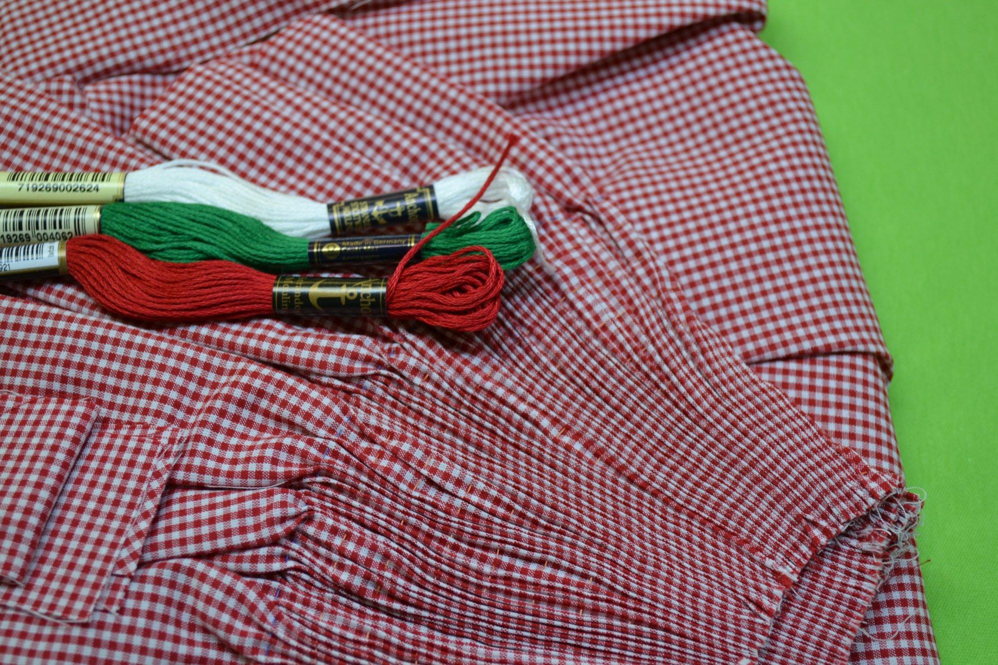 Bishop Kit - Banded Sleeve Red Gingham 4 years