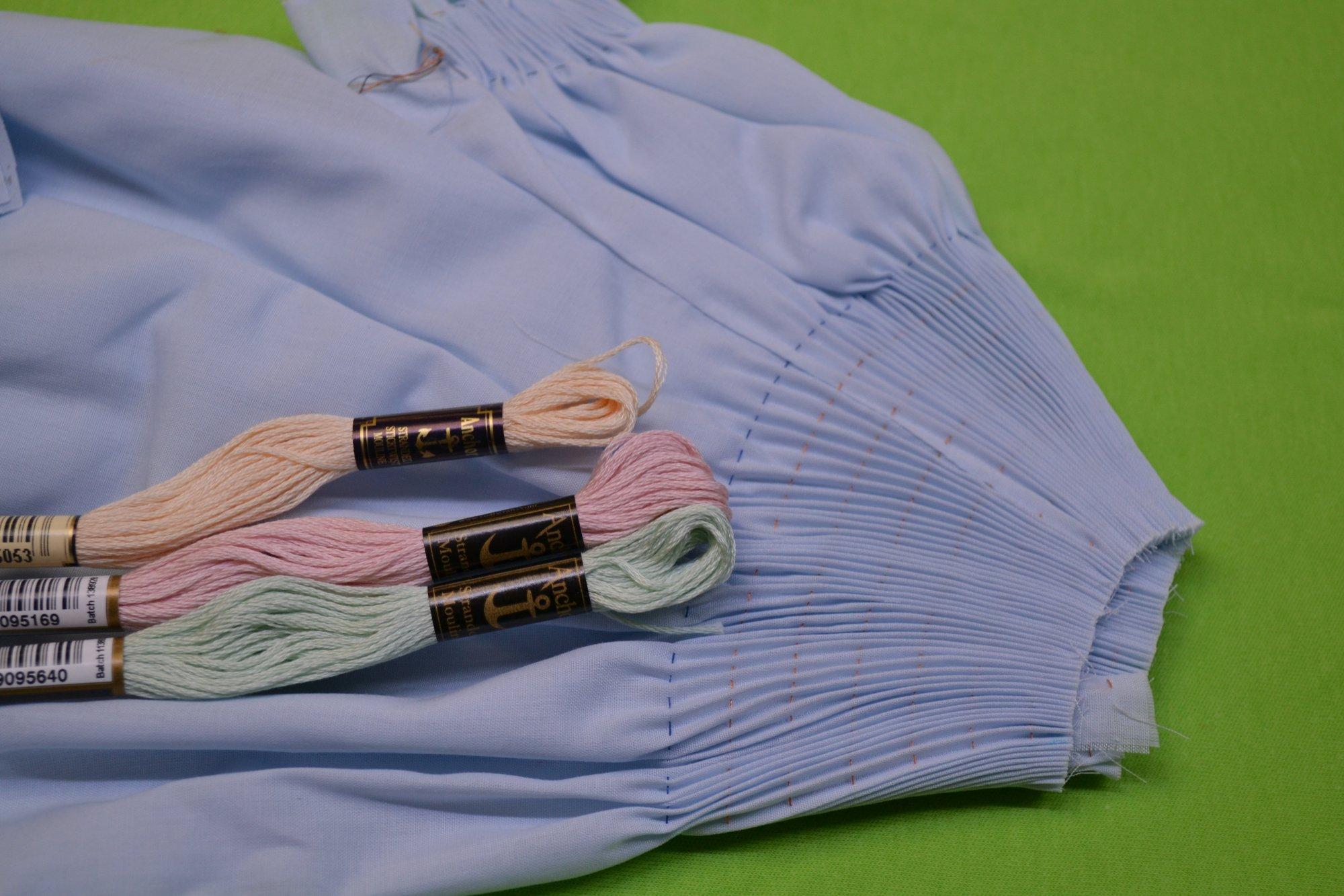Bishop Kit - Pleated Sleeve Baby Blue Newborn