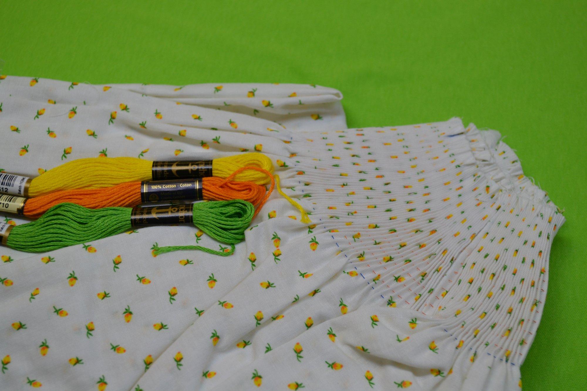 Bishop Kit - Banded Sleeve Vintage Yellow Bud 12 months