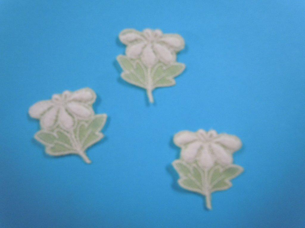 Applique motif Pastel Yel. flower 1