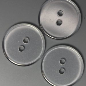 Clear Flat Plastic Button 3/4