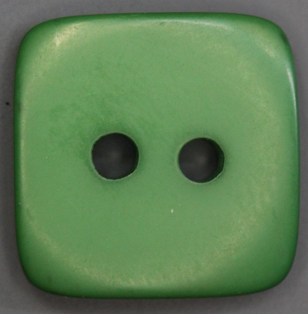 Colored Flat Plastic Button 3/4 Green