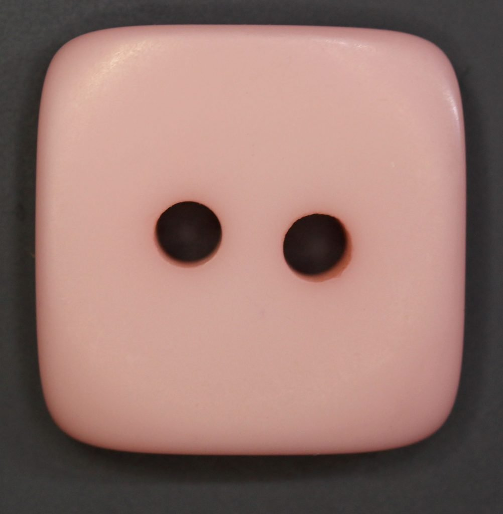 Colored Flat Plastic Button 3/4 Pastel Pink