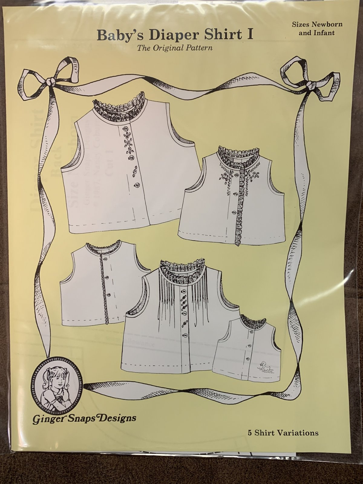 Ginger Snaps Designs Baby Diaper Shirt I
