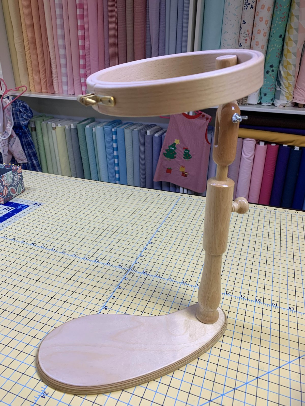 6 Wooden Sit On Embroidery Hoop