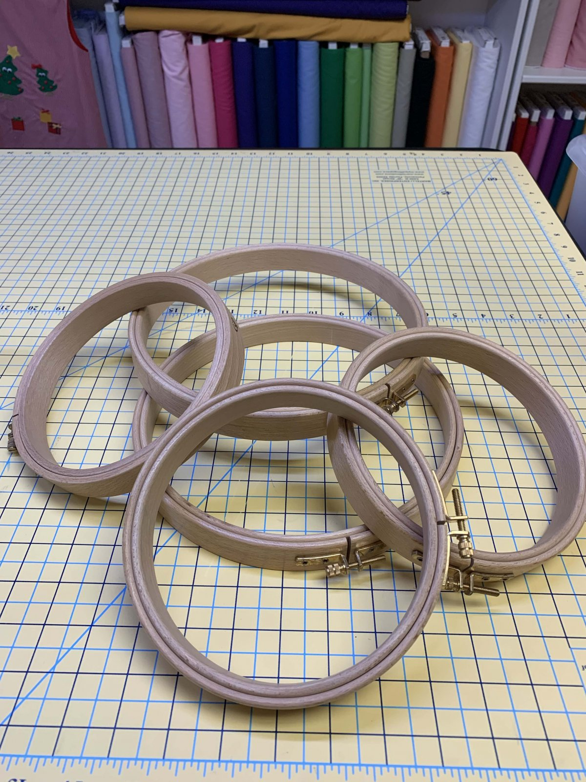 6 Wooden Embroidery Hoop Wide Band