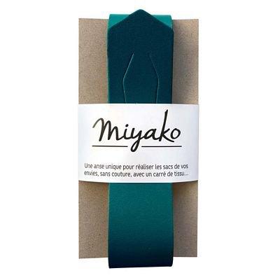 Leather Purse Handle - Canard Blue - Miyako