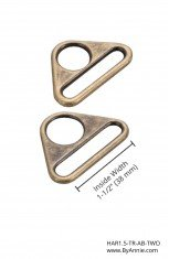 Triangle Ring Flat 1.5 Antique Brass