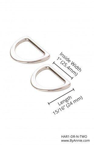D Ring Flat 1 Nickel