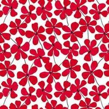 Red Alert - 1278-01White Floral Allover