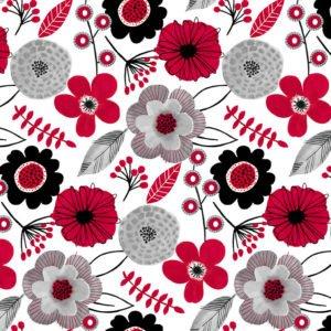 Red Alert - 1282-01 White Large Floral