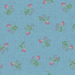 FV-Blue Tossed Flower 9884-B