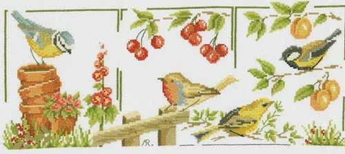 Garden Birds (88 x 214 )