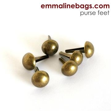 Purse feet 6 pack-ant. brass
