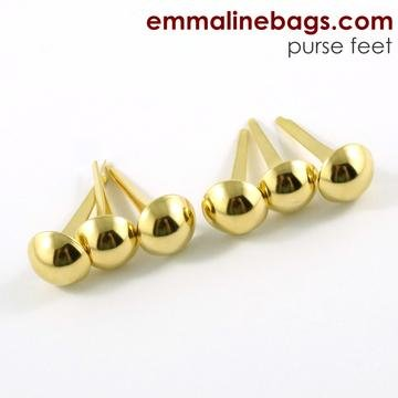 Purse Feet 6 pack - gold
