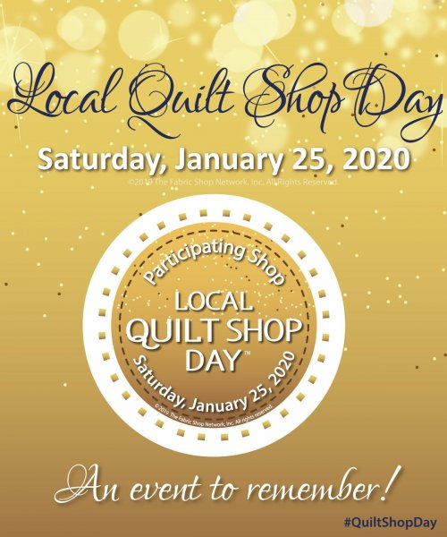 It's Local Quilt Shop Day!