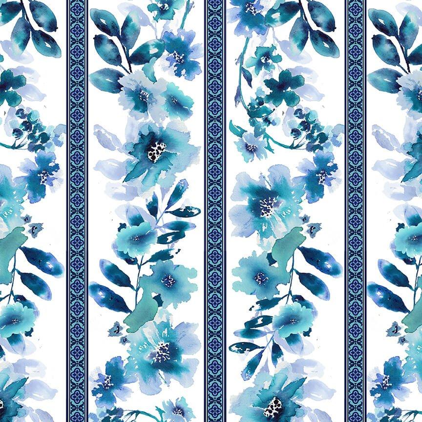Midnight Sapphire: Wallpaper Stripe