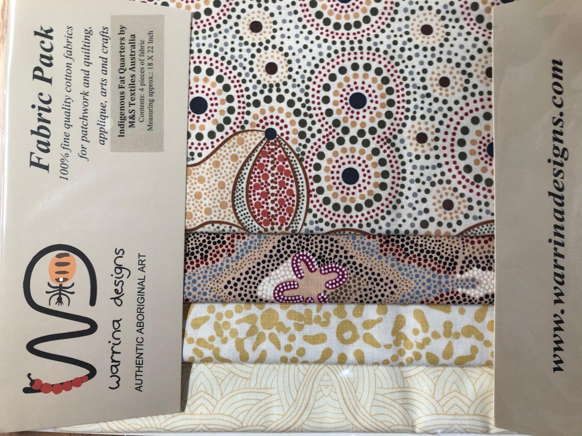Aboriginal Art Fat Quarter Pack - Ecru Colorway
