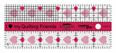 Creative Grids I Love My Quilt Friends 2-1/2 x 6