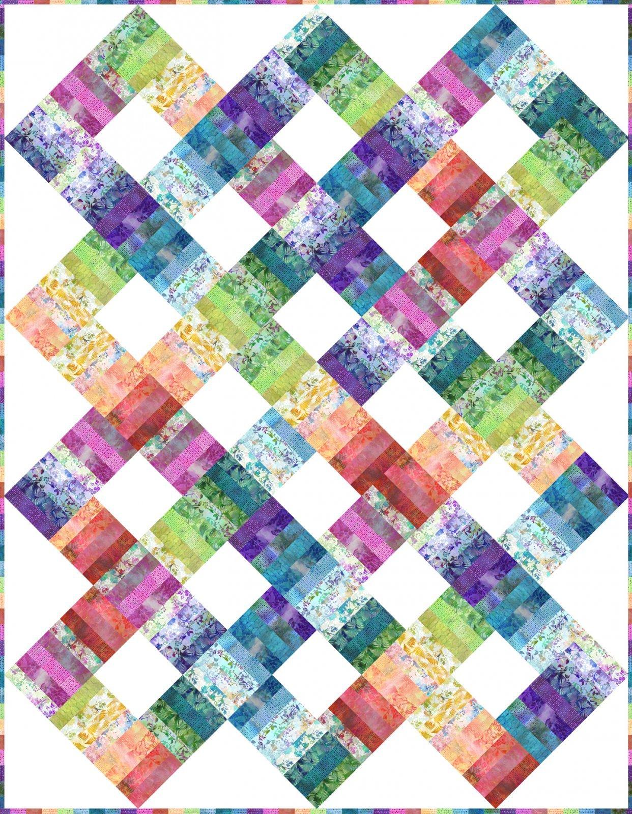 Garden of Dreams Color Weave Quilt Kit