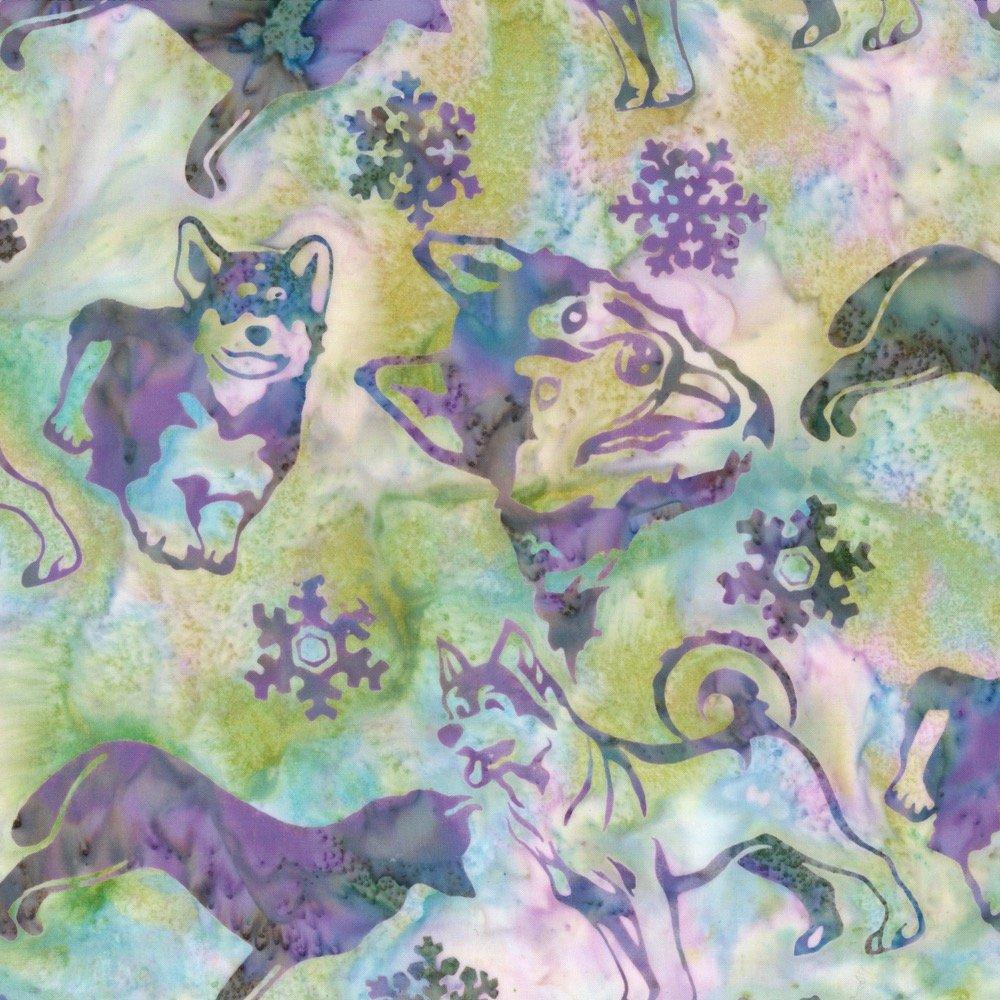 Custom Batik - Alaskan Huskies - Abalone